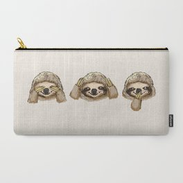 Carry-All Pouch - No Evil Sloth - Huebucket
