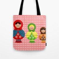 Matrioskas (Russian dolls) Tote Bag