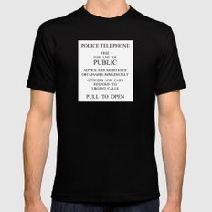 Whovian Black Mens Fitted Tee SMALL