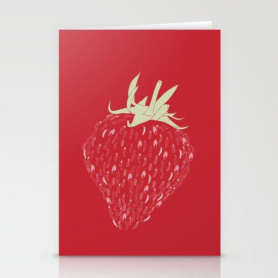 Strawberry Stationery Card