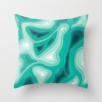 ocean dephts map Throw Pillow