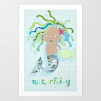Water Fairy Mermaid Art Print