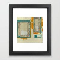 Mid Century Modern Abstr… Framed Art Print