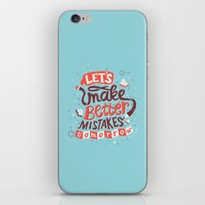 Better Mistakes iPhone & iPod Skin