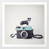 The Collie And The Diana Art Print