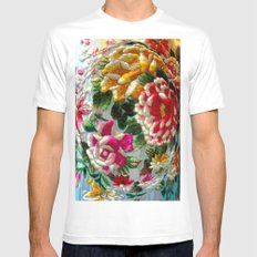 Chintz Egg White Mens Fitted Tee SMALL