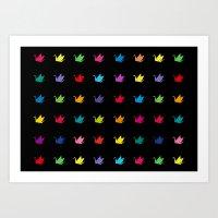 Origami Cranes Pattern Art Print