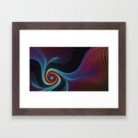 Dark sea of me Framed Art Print
