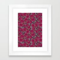 Roses In Mauve Framed Art Print