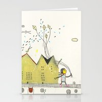 Walking Downtown Stationery Cards