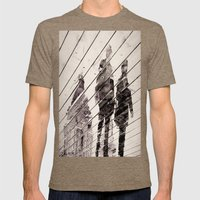 Rainy Day on the Promenade Mens Fitted Tee Tri-Coffee SMALL