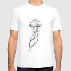 jelly SMALL White Mens Fitted Tee