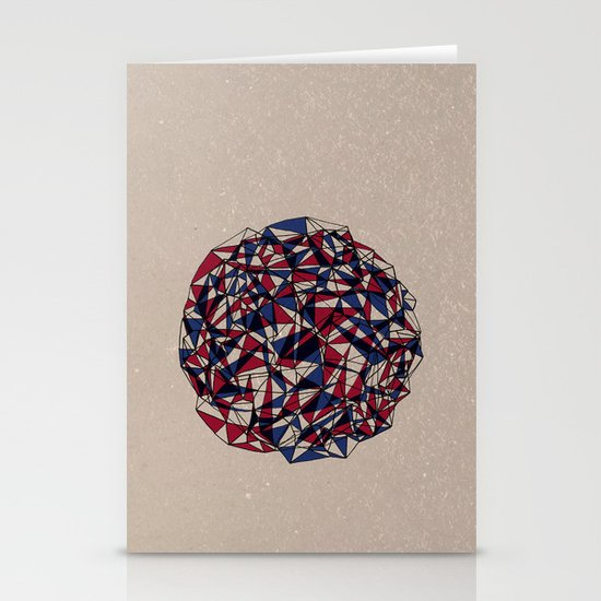 - red blue - Stationery Card
