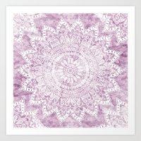 BOHEMIAN FLOWER MANDALA … Art Print