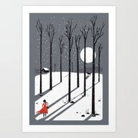Little Red Cap Art Print