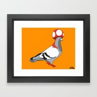 Pigeon Toad. Framed Art Print