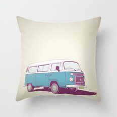 VW Combi v.02 Throw Pillow