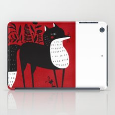 BLACK & WHITE FOX iPad Case