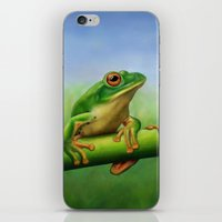 Moltrecht's Green Treefr… iPhone & iPod Skin