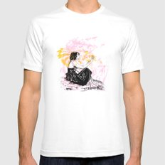 Departure White Mens Fitted Tee SMALL