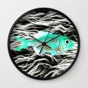 Fish on Fur V Wall Clock