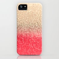 iPhone 5s & iPhone 5 Cases featuring GOLD CORAL by Monika Strigel