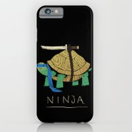 iPhone & iPod Case featuring Ninja - Blue by Louis Roskosch