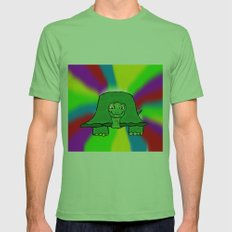 Turtle Mens Fitted Tee Grass SMALL