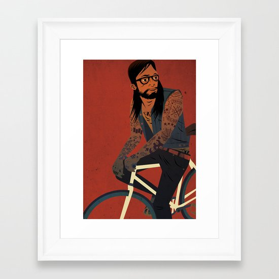 Bicycles & Tattoos (2) Framed Art Print