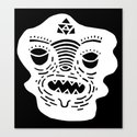 stencil face TEE invert Canvas Print