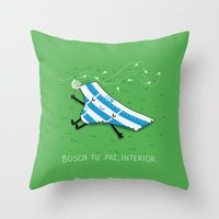 La paz, interior Throw Pillow