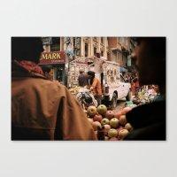 Kathmandu Markets Canvas Print