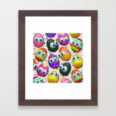 Cute Easter Eggs Cartoon 3d Pattern Framed Art Print