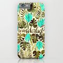 Tropical Wanderlust – Turquoise & Olive iPhone & iPod Case