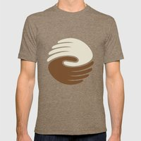 Peace Mens Fitted Tee Tri-Coffee SMALL