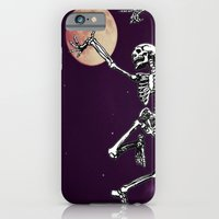 iPhone & iPod Case featuring Skeleton & Moon by Lilyana Reyes