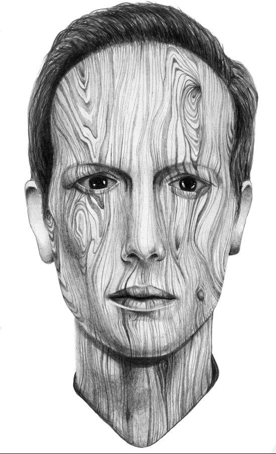 Wood Man Art Print