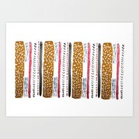 Make Do And Mend Pattern Art Print