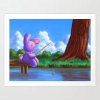 Deloris - Gone Fishing Art Print