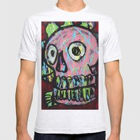 King Skull 2 Mens Fitted Tee Ash Grey SMALL