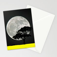 Lone Tree And Moon. Stationery Cards