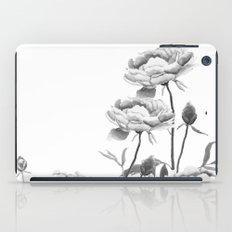 black and white peonies  iPad Case