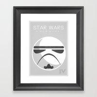 Star Wars IV: A New Hope Framed Art Print