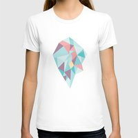 Facet Vector II Womens Fitted Tee White SMALL