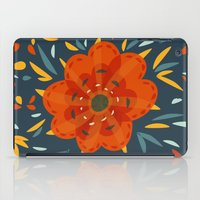 Decorative Whimsical Orange Flower iPad Case