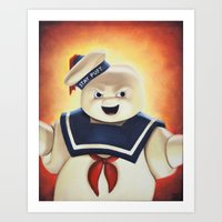Stay Puft Marshmallow Man Art Print