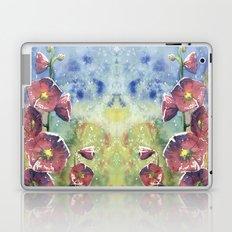 Hollyhocks - Pink Flowers Laptop & iPad Skin