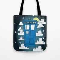 Blue Box Tote Bag