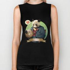 Wise Panda: Love Makes the World Go Around! Biker Tank