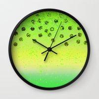 lime and kiwi  Wall Clock